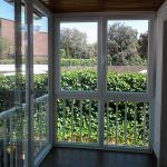 ventanas de pvc en Madrid. Cerramiento de terraza a medida, compuesto por ventana corredera , fijo inferior y ventanal abatible